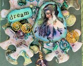 Medieval Ophelia Puzzle piece brooch