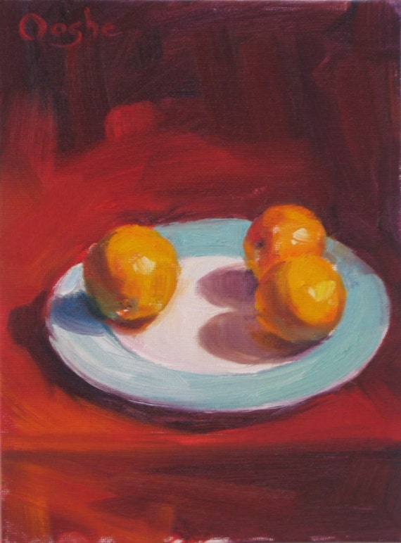 Reserved for Schiano98 - Original Oil Painting - Still Life - Oranges -6x8 inches