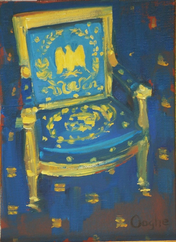 White House Chair - original oil painting