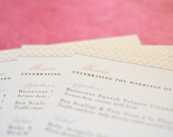 Menu Card : Vintage Chandelier