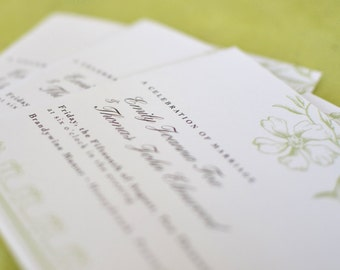 Wedding Program : Vintage Flora