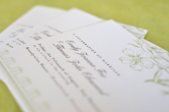 Wedding Program : Vintage Flora