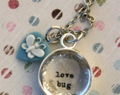 Love Bug Little Girl Butterfly Necklace