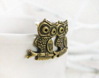 Owl Stud Earrings - Silver Owl Earrings - Bronze Earrings - Woodland Earrings - Owl Jewelry - Woodland Jewelry - Owl Jewellery - Owl Posts