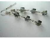 Twilight - Swarovski crystal cubes and sterling silver wirework