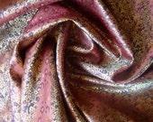 Deep Plum and Gold Indian  Silk Brocade-FQ