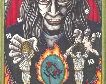 Twin Peaks Tarot BOB postcard PRINT