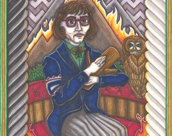Twin Peaks Tarot Log Lady postcard PRINT