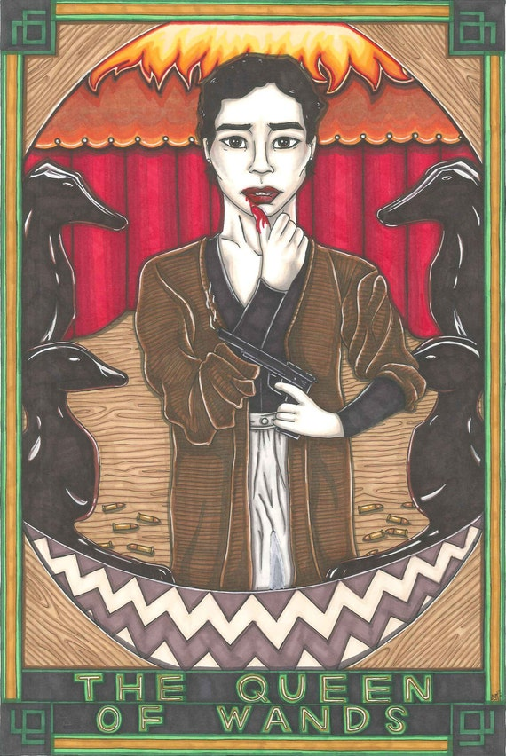 Items similar to Twin Peaks Tarot Josie Packard postcard ...