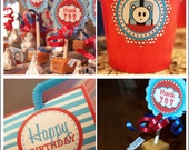 Train Birthday Party Package  - (6) PDF Printable Files - Instant Digital Download