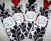 Damask Teacher Bookmark - PDF Printable File - Instant Digital Download