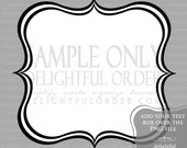Black Double Frame Labels/Tag -  PDF Blank File & Add your text PNG File - Instant Digital Download