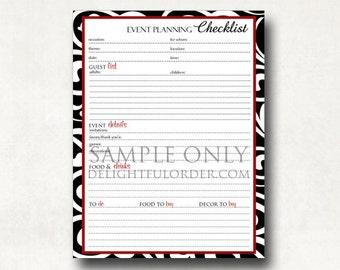 Event Planning Checklist  - PDF Printable File - Instant Digital Download