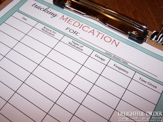 Genius image pertaining to printable medication charts