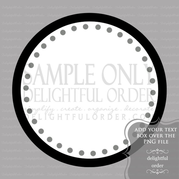 Black and Gray Circle Labels/Tag -  PDF Blank File & Add your text PNG File