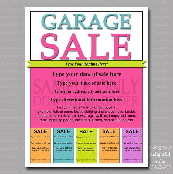 editable and printable garage sale flyer 1 pdf file
