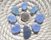 SALE NOW 30% OFF Sea Glass Cornflower Blue Genuine Beach Sea Glass Gems