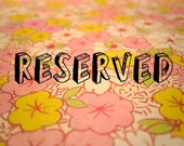 Reserved for Stephanie LaManna