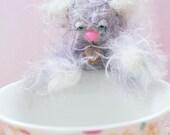 SALE Handmade Miniature Mohair Kitten Mimi - Was 37GBP now 28GBP