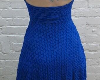 Electric Blue Halter Dress