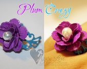 Plum Crazy Enameled Flower Filigree Ring (Vibrant Ring Collection)