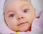 Shine Baby - Yellow and Silver Rosette Headband - (Newborn Infant Size)