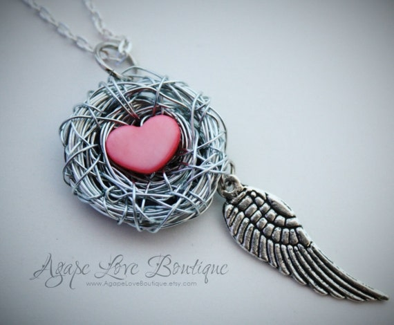 Custom Made Birds Nest Necklace (The Necklace with a Story)