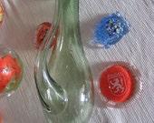 Handblown Weather Glass Goethe Barometer Greenish USA, Glaswork Barbora Czech Rep.