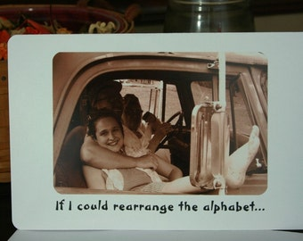 Hillbilly couple Greeting Card - redneck card - anniversary card - love card - thinking of you card - old photo card - family photo card