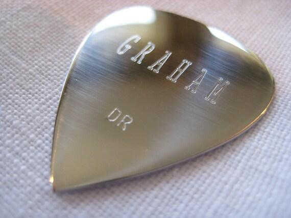 Engraved Professional Guitar Pick