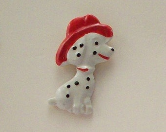 Buttons Fire House Dalmatians - Set of 2 - DIY Supplies on Etsy