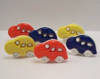 Buttons Colorful Cars - DIY Suppiles