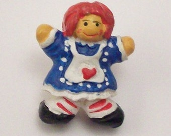 Hand Painted Raggedy Ann Buttons - DIY Supplies on Etsy