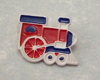 Buttons Train Engines Old Fashion Hand Painted - DIY Supplies on Etsy