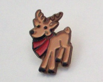 Reindeer Holiday Button Christmas Buttons