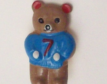 Buttons Vintage Sporty Bears DIY Supplies on Etsy
