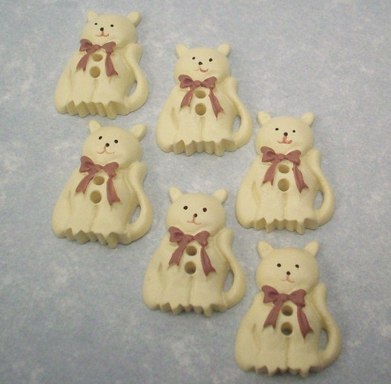 Cat Buttons - Country Cats - DIY Supplies on Etsy