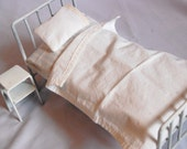 Vintage style Hospital Bed miniature metal doll bed 1/6 scale