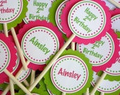 Customized/Personalized Cupcake Toppers - Choose Your Color(s) and Font
