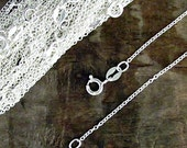 "12 x 18"" Sterling Silver Cable Chain - 1mm - Wholesale Chains for Jewelry 1 mm"