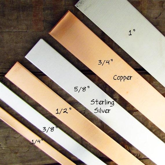 """3 Copper Bracelet Blank  - 1/2"""" x 6"""" x 16 gauge - Cuff Bracelet Blank Stamping Supplies"""
