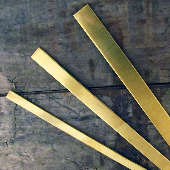 3 x BRASS Cuff Bracelet Blank - 1/2 in x 6 in x 16 gauge - Stamping Supplies Jewelry Supplies