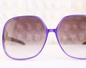 Grape 1990's Oversized Sunglasses Translucent Purple Non Prescription Dead Stock