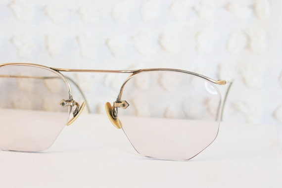 Glasses Invisible Frames : Minimal Ful Vue Numont 1940s Eyeglasses Invisible by ...