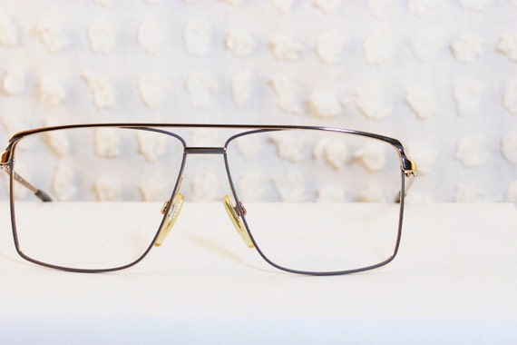 Aviator Eyeglasses Frame : 80s Mens Glasses 1980s Aviator Eyeglasses Metal by DIAeyewear