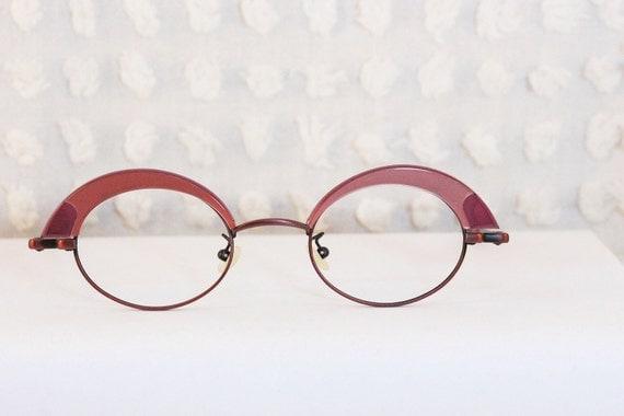 80s Glasses Pink Half Moon 1980s Browline by DIAeyewear ...