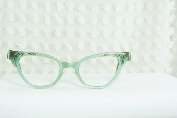 Vintage 50s Eyeglasses 60s Cat Eye Glasses Mint by DIAeyewear