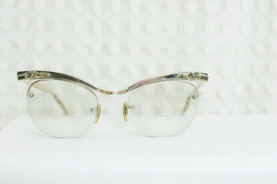 Vintage 50s Browline Glasses 1950s Womens Eyeglasses by ...