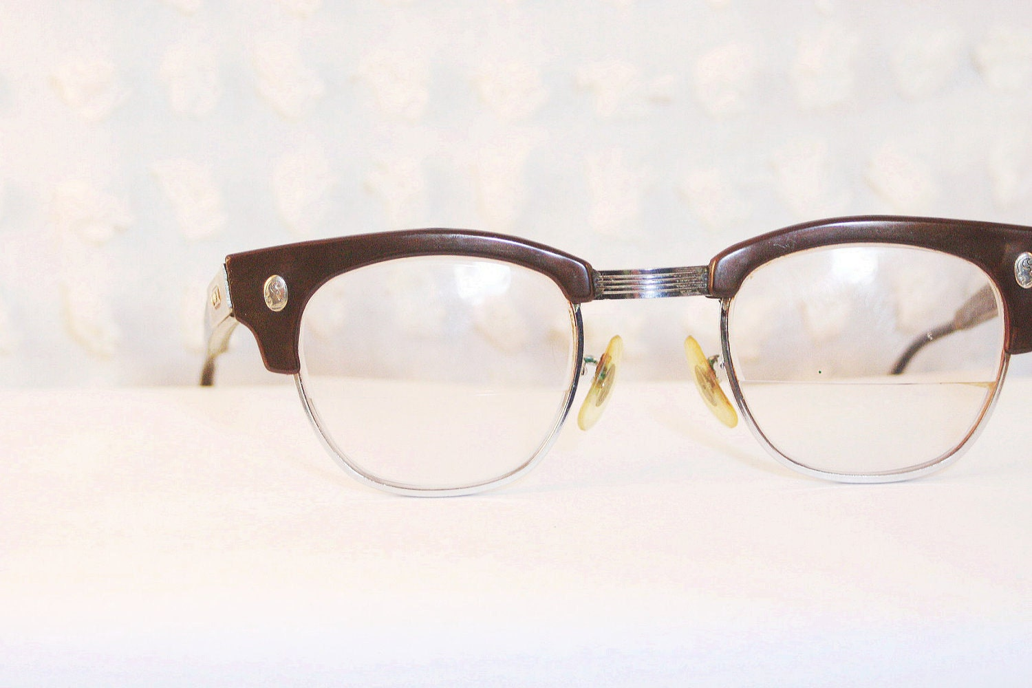Deep Brown Squared 1950 S Browline Eyeglasses Safety By