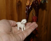 Felted lamb, felted toy, lamb miniature, super tiny, neddle felted lamb, soft sculpture, farm animals miniature